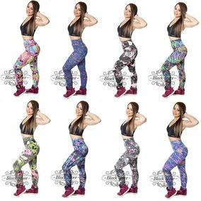 Kit Com 5 Calças Legging Suplex Roupas Moda Fitness Atacado
