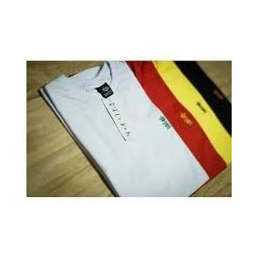 Kit 5 Camisa Roupa Masculina De Marca Gola Redonda Algodao