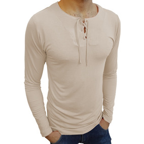 Camiseta Masculina Bata Manga Longa