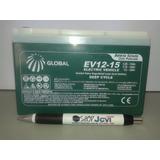 Bateria 12v 15ah Ciclo Profundo Global 6-dzm-12 Evh12150