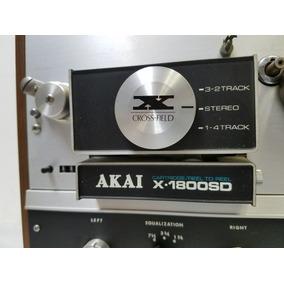 Gravador De Rolo Akai X-1800sd Amplificado E Cartucho Tape