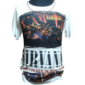 Remera Nirvana Sublimada Mtv Unplugged Kurt Cobain