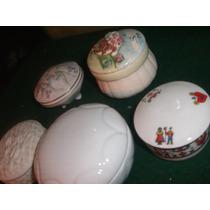 Pastilleros De Loza Lote De 5 Antiguos Muy Buenos !!oferta!!