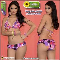 Traje Baño Damas Ultima Moda 2017 Bikinis Altos Semi Hilo