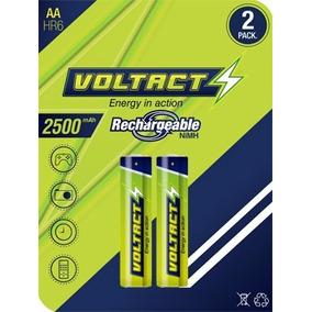 Pila Bateria Voltact Aa Recargable 2500mah Excelente Tienda