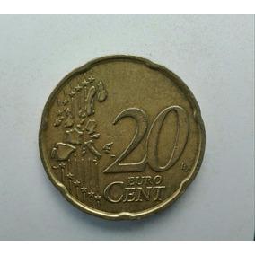 Moeda Itália 20cent Euros Ano 2003, 22,25mm