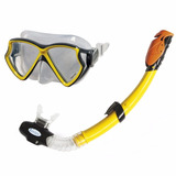 Set Buceo Gafa Vidrio Careta Snorkel 2va Intex 55960