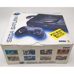 Sega Saturn Completo Na Caixa Com Pistolas Jogos