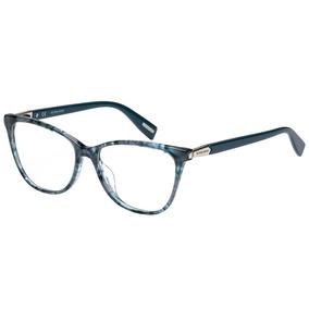 cb278711c555f Óculos De Grau Victor Hugo Vh1767 011h 53 Azul Mesclado Tran