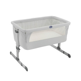 Chicco Cuna Colecho Next2me Silver, Color Plata