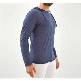 Blusa Camiseta Com Capuz Malha Algodão Flamê Slim Fit Offert