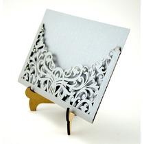 Sobre Invitacion Corte Laser Boda, Xv Art311 Silver