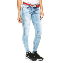Only - Jeans Skinny Acid Wash - Azul - 15112591
