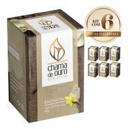 6 Velas Perfumadas Aromáticas Aroma Baunilha 60g