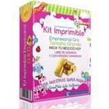 Kit Imprimible Empresarial Oro Mega Gigante Mas De 120 Kits