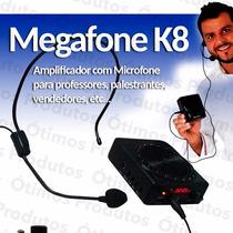 Amplificador Megafone K8 Microfone Professor Aula Palestra