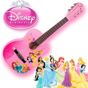 Violão Infantil Rosa Disney Princesas + Capa Brinde
