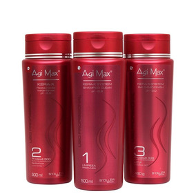 Kit Escova Progressiva Agi Max Red Kera-x 500ml + Brinde
