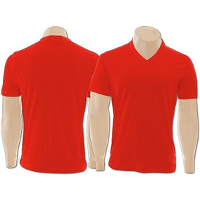 Camiseta Lisa Gola V 100% Algodão Fio 30.1