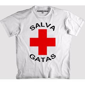 Camisa Engraçada - Salva Gatas