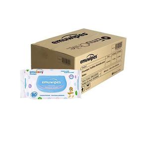 Caja De 18 Bolsas De Toallitas Húmedas Emuwipes Premium De