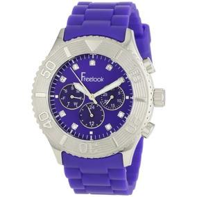 Ha Azul Azul Chrono Freelook Hombres De Esfera De Un Reloj