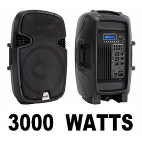 Bafle Bocina 12 Pulgadas Amplificada 3000 Wat Activo Usb Sd