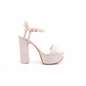 Natacha Zapato Mujer Sandalia Plataforma Dune Plata #1221