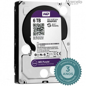 Hd Interno 6tb Western Digital Purple Wd60purx Sata 3