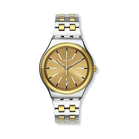 Swatch Irony Tico-toco Gold Dial Stainless Steel Mens Watch