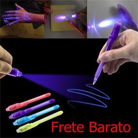 Caneta Mágica Tinta Invisível E Luz Negra Laser