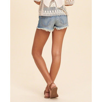 Shorts Bermuda Hollister Jeans Roupa Feminino Original Novo