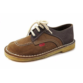 Zapatos T/ Kickers Colegial Cuero Cordon 21-33 Children