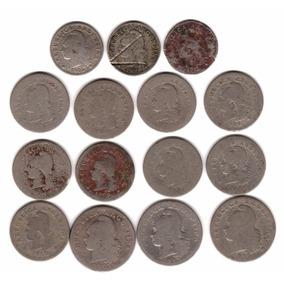 Lote 15 Monedas Argentina Niqueles Diferentes De 1897 A 1918
