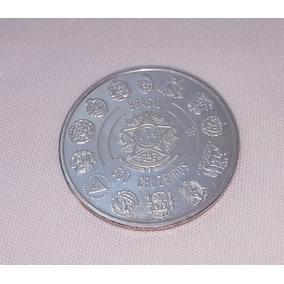 Moeda Antiga Brasileira De Prata 500 Cruzeiros