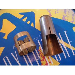 Abraçadeira E Cobre-boquilha De Metal Para Sax Alto Vintage
