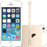 Iphone 5s 32gb Dourado 3g Nota+garantia+capa+película Vidro