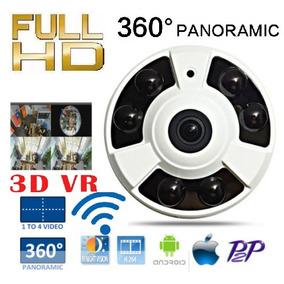 Câmera Ip 2mp Panoramica 360° 3d Full Hd Wireles Wifi P2p
