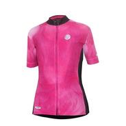 Camisa Ciclismo Mauro Ribeiro Cloud Feminina Rosa Bike