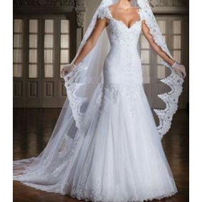 Vestido De Noiva Sereia Cauda Destacavel