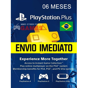 Cartão Psn Plus 6 Meses Brasil Playstation Brasileira