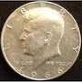 Moneda Half Dollar Plata 1966