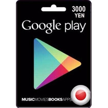 Tarjeta Gift Card Google Play De Japón 3000 Yenes Android