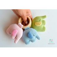 Sonajeros Elefante A Crochet - Nariz De Azúcar Amigurumis