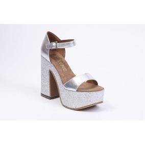 Zapatos Sandalias Mujer Taco Glitter Fiesta Verano Palmira