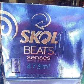 Cerveja Skol Beats Senses Latao 473 Ml Azul Pack Fardo C 6