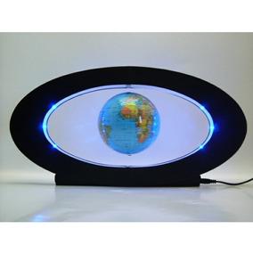 adorno globo terraqueo mundo magnetico flotante luz led