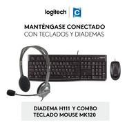 Sùper Combo Logitech Diadema H111+teclado Y Mouse Mk120