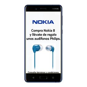 Nokia 8 Lte Pant. 5.3 Qhd 64+4ram 13+13mp Azul Brillante