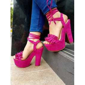Zapatos Tacon Playa Formal - Zapatos Fucsia en Mercado Libre Colombia c1a3ca6a7a0
